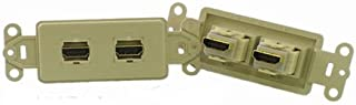 PowerBridge HDMI-2-IV Pass-Thru Decora Insert with Dual HDMI (Each, Ivory)