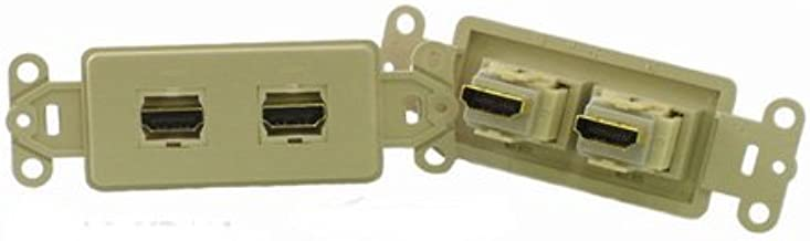 PowerBridge HDMI-2-IV Pass-Thru Decora Insert with Dual HDMI (Each, Ivory)