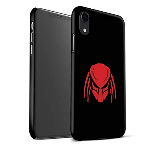 Telefoon Matte Case voor Apple iPhone XR Alien Hunter Film Art Helm/Gezicht Masker Ontwerp Matt Harde Snap On Cover