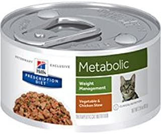 Amazon.com : Hills Prescription Diet Metabolic Weight Management Vegetable & Chicken Stew Canned Cat Food 24/2.9 oz : Pet Supplies