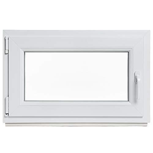 Panorama24 Kellerfenster - BxH: 80x50 cm - Kunststoff - Fenster - weiß - 3-fach-Verglasung - DIN rechts - 60mm Profil - LAGERWARE