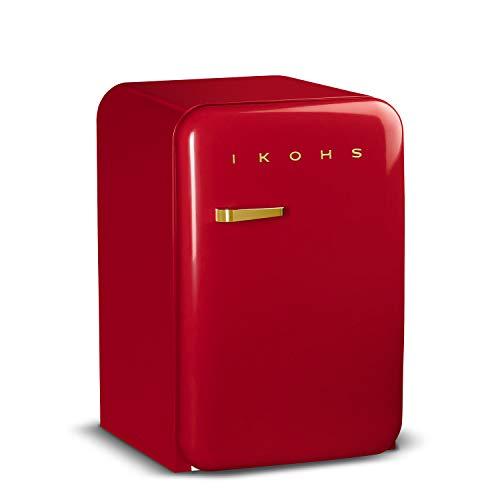 baratos y buenos Refrigerador Retro IKOHS GOLD-Refrigerador con diseño, control de temperatura regulable, estética… calidad