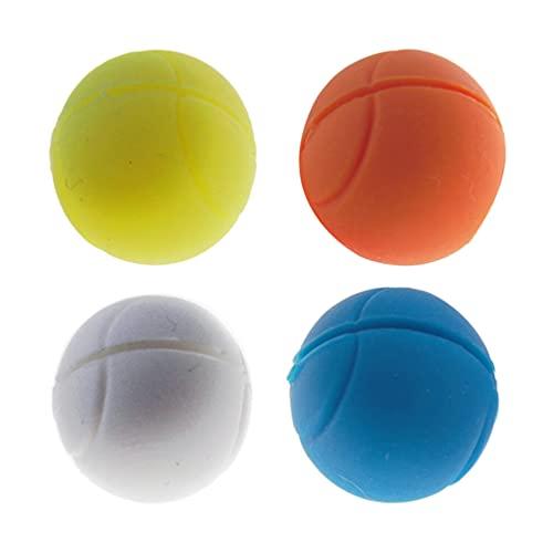 ABOOFAN 4 unids raqueta de tenis amortiguador de vibración suave silicona tenis forma amortiguador para niños mujeres y