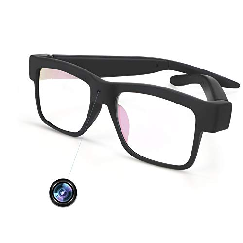 Camera Glasses 1080P Towero Mini Video Glasses Wearable Camera(Without SD Card)