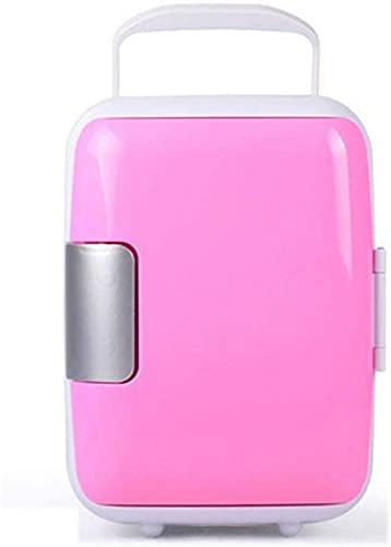 LZXH Refrigerador para automóvil Mini refrigerador silencioso portátil de 4 L, Enfriador de calefacción y AC/DC Aislado, Adecuado para Dormitorio, automóvil, Comida, Leche Materna, Oficina en e