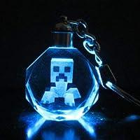 マインクラフト キーホルダー 光る 暗闇 クリスタル