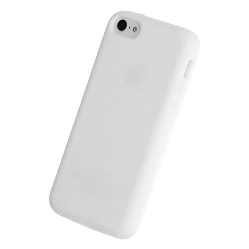 doupi PureColor Funda Compatible con iPhone 5C, Protectora de Ajuste sólido Cover de Silicona Goma Shell Cubierta Protectora, Blanco