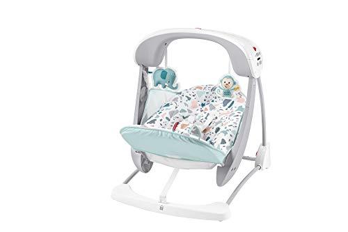 Fisher-Price Columpio- Hamaca Portátil Deluxe Plegable Con Sonidos Y Vibraciones Para Bebés...