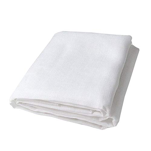 """Arya Export Khadi Cotton Linen Unstitched Width 42""""/3 m Cut, Fabric for Shirt and Kurta and Others Decoration (White, Free Size)"""