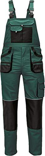 Stenso des-Emerton® - Herren Arbeits-Latzhose - Grün EU52