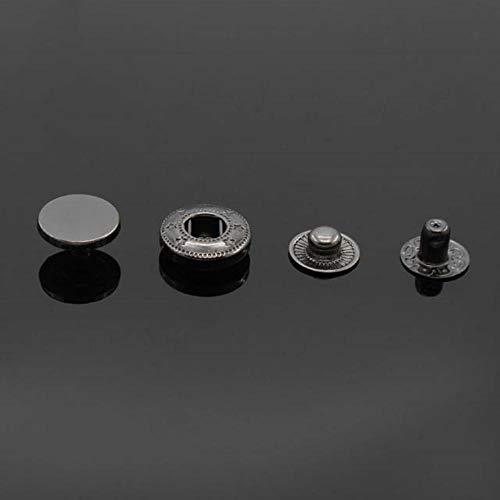 10 stks 10mm-30mm Mix Soepele Snap Bevestiger Druk Knopen Botoes Naaien Leer Craft Kleding Tassen Accessoires, Jeans Metalen Knopen 30mm Zwart