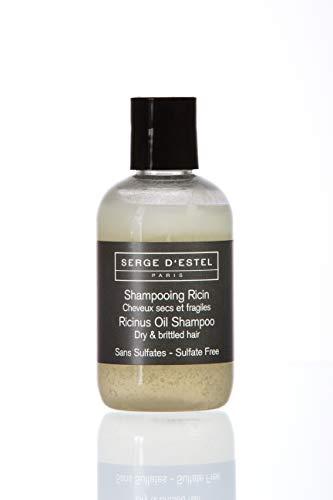 Shampoing Sans Sulfate au Ricin 100ml Shampoing Très Nourrissant Hydratant pour Cheveux Très Secs Frisés et Crépus. Shampoing Nourrissant Sans Sulfate Non Testé sur les Animaux.