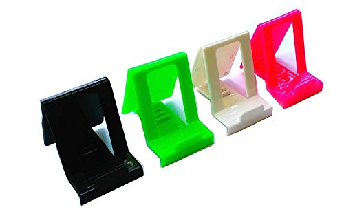 Rebel Mobile Stand Holder Small Mini Size Universal Adjustable 5 Steps Fold-able for All Phone Tablet Desk Multicolor (Pack 2)
