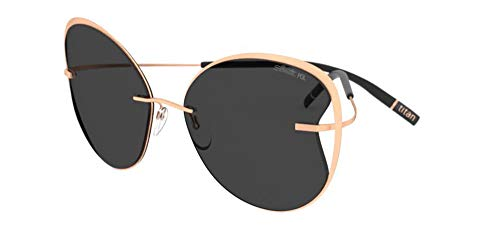 Silhouette Gafas de Sol TITAN ACCENT SHADES 8173 Rose Gold/Grey talla única mujer
