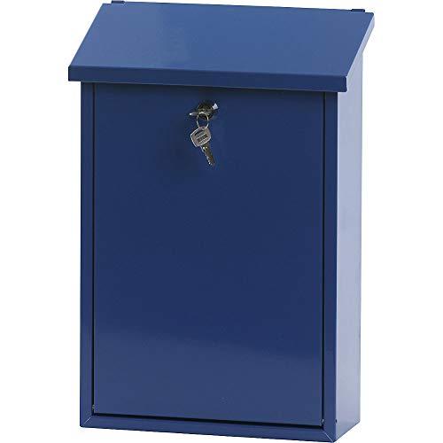 V-Part Wandbriefkasten, 27x12x40 cm, blau