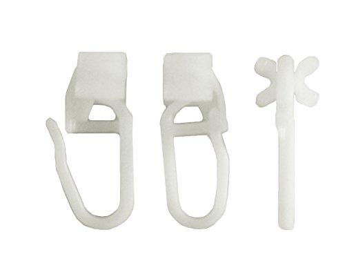 iso-design x-Gleiter mit Faltenlegehaken für Gardinenschienen - Set 100