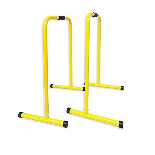 Barras de estación de inmersión multifunción, barras paralelas divididas para interiores y hogares, gimnasio, entrenamiento de fuerza, estación de fitness (color: amarillo, tamaño: 63 x 55 x 100 cm)