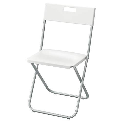 Ikea GUNDE - Silla Plegable, Blanco
