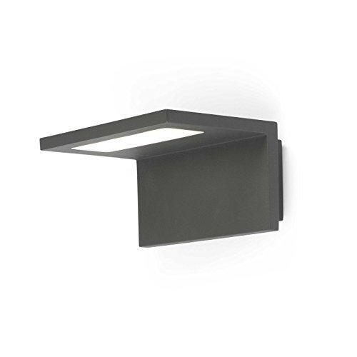 FARO BARCELONA 74419 - Ele Aplique (Bombilla incluida) LED, 6W, Aluminio y difusor de policarbonato, Color Gris