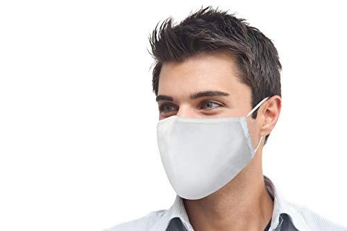 MBW Mund- & Nasenmaske in weiß Schutzmaske Mundschutz Maske 3-lagig Wiederverwendbare Masken 100% Baumwolle