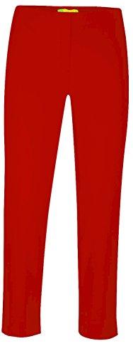 Stehmann INKE-608 schmale 6/8 Hose mit hinterer Raffung am Bein Größe 34, Farbe rot