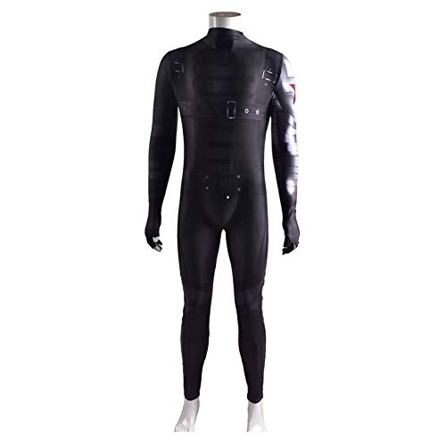 LGYCB Ventilatori Superhero Body Captain America Film Feste a Tema Abbigliamento Winter Soldier Costume Cosplay Natale Stage Performance Body Props,Winter Soldier-Adults (155~160cm)