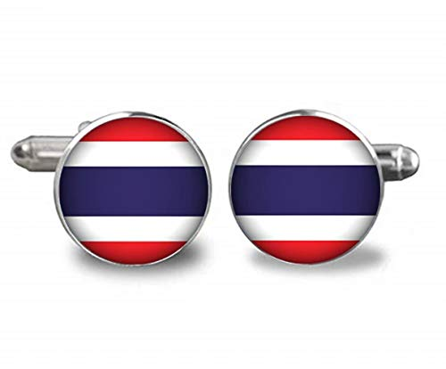 Xubu Nationaal Symbool Vlag Sieraden, Thaise Vlag Manchetknopen, Nationale Vlag Manchetknopen