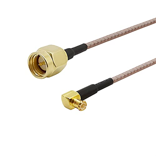 ZHOUCHENPQ 1 stücke SMA männlicher Stecker an MCX männliche Stecker rechtwinklig l Form RG316 RG178 Kabel RF Coax Koaxial-Pigtail-Kabel (Color : 10CM, Package : RG316)