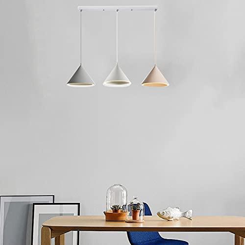 ZJING Lámpara Colgante de Color Macaron, lámpara Colgante de Restaurante Regulable, lámpara Colgante LED Simple y Moderna para Sala de estars (Enviar Bombilla),Style c