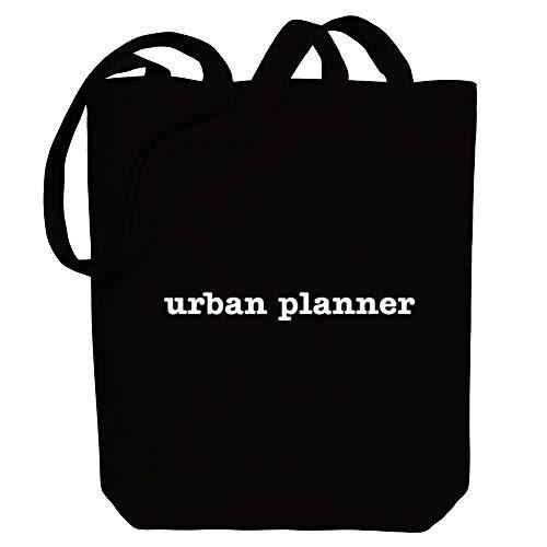 Idakoos Urban Planner Bold Typewriter Canvas Tote Bag 10.5' x 16' x 4'