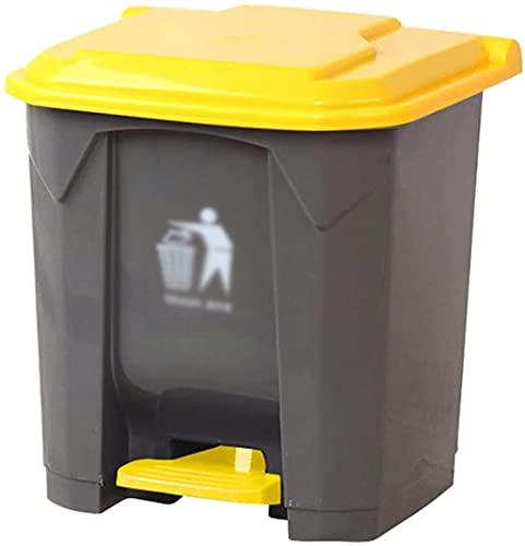LSNLNN Puede de Basura, Poder de Basura de Cocina, Papelera de Reciclaje de Basura de Plástico de 20/30L para el Hogar con Tapa de la Papelera Del Pedal Del Hotel de la Tapa,B,30L