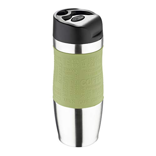 BERGNER Travel Thermos da Viaggio 400ml, Acciaio Inossidabile, Multicolore, 21 cm