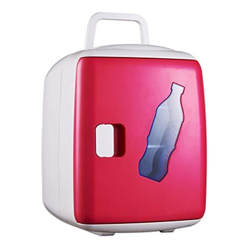 Luqifei Mini refrigerador 15L de Doble núcleo del Coche refrigerador de la casa pequeña Nevera Estudiante compartida Nevera Nevera Nevera portátil Recorrido al Aire Libre de la Comida campestre CAM