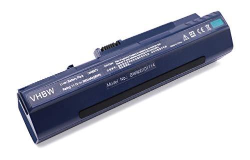 Vhbw Batterie Li-Ion pour ACER Aspire One D150/D250/531/D 150 250 Bleu foncé 8 800 mAh 11,1 V