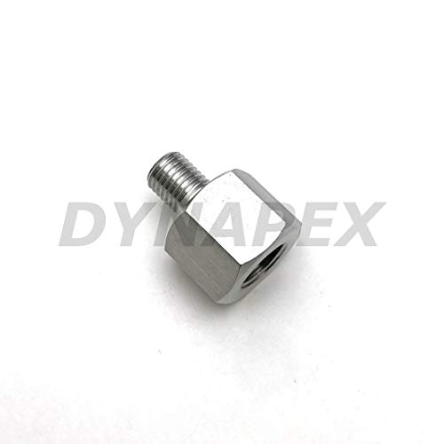"Pipe Fitting 1/8"" NPT Female to Metric M8 M8X1 Male 304 Stainless Steel Adapter"