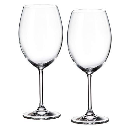 la galaica | Set de 2 Copas de Cristal para Vino o Agua - Colección Gastro | Resistentes y Modernos | Regalo Ideal para Bodas de Oro y Plata | 25 y 50 Aniversario Regalo
