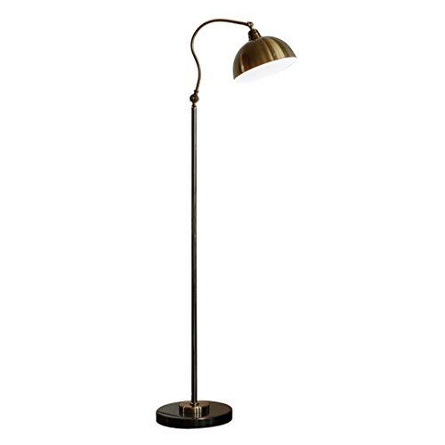 Lampe sur pied Retro Lámpara de piso de la sala Sofá Vertical Tabla lámpara de lectura Estudio dormitorio de la lámpara lámpara de cabecera de metal de alta calidad de hardware de LED lámpara de mesa