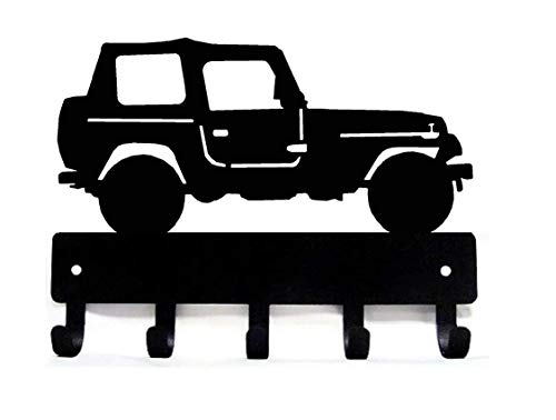 The Metal Peddler Off Road #2 Vehicle SUV Key Rack Hanger - Small 6 inch Wide - Made in USA