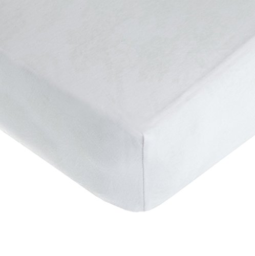 American Baby Company Supreme 100% Natural Cotton Jersey Knit Fitted Crib Sheet for Standard Crib and Toddler Mattresses, White, Soft Breathable, for Boys and Girls