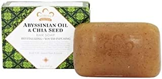 Abyssinian Oil & Chia SeedBar Soap Revitalizing & Youth Infusing by Nubian Heritage 5 oz. (Pack of 3)