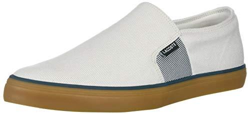 Lacoste Women's Gazon Sneaker, White/Gum, 6.5 Medium US