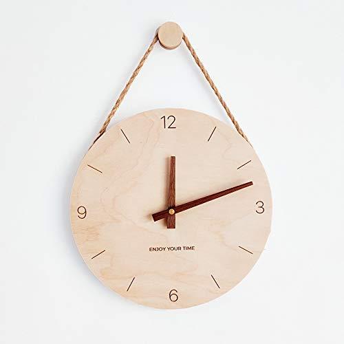 Orologio da parete CXY Nordic Creativo Orologio in Legno in Stile Giapponese Creativo Soggiorno Orologi Decorazione della Casa della Parete Clock10 Pollici 9.20 (Color : 2)