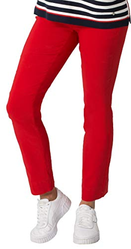Stehmann INA-740, Bequeme,stretchige Damenhose-Bitte mindestens 1 Nummer Kleiner bestellen, Rot, 44