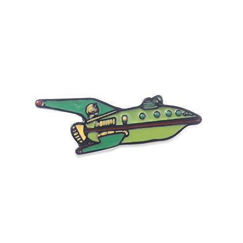 Philip J.Fry Flugzeug-Brosche Animierte Sitcom Futurama Flugzeug Cartoon Broschen Pins, Zink,