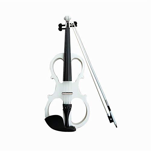 4/4 Madera Sólida Blanco/Negro/Rojo Vino Violín Eléctrico, Instrumento De Cuerda De Violín...