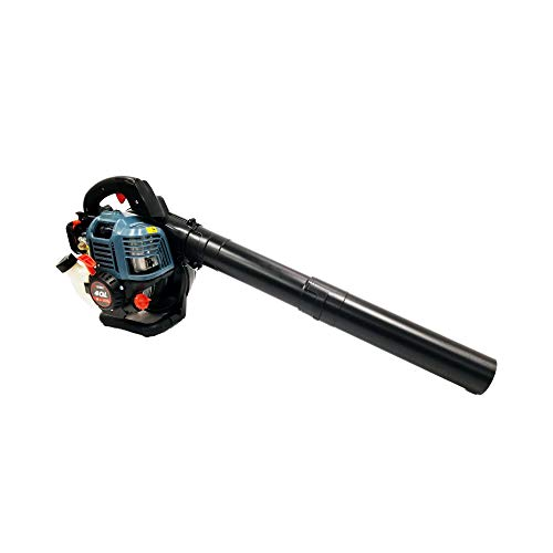 SENIX BLV4QL-M 31cc 4-Cycle Gas Powered Leaf Blower with Vac Kit, Blue