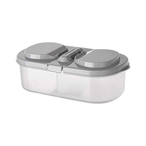 Qiheng Tarro De Cocina para Varios Alimentos, Recipientes Transparentes para Alimentos con Tapa, Caja De Almacenamiento Multifuncional De Doble Compartimento para Refrigerador De Cocina