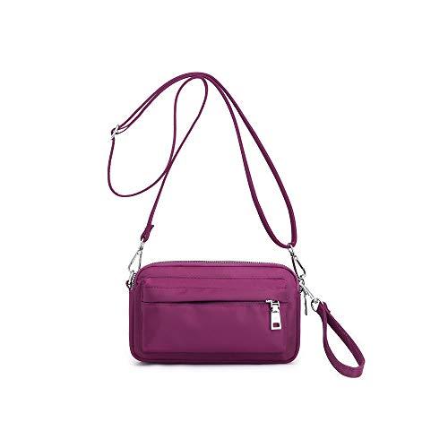 YANAIER Handy Schultertasche Damen Kleine Tasche Umhängetasche Crossbody Handytasche Phone Bag für Frauen Mädchen Lila
