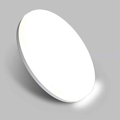 Aogled LED Plafoniera 18W 1800LM 4000K Bianco Naturale Rotonda 22CM,Impermeabile IP54,180 Angolo,Nessun Sensor,Interno Lampada a Soffitto Per Camera da letto,Cucina,Cantina,Corridoio,Ufficio,Bagno