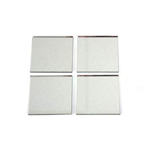 Healifty - 200 Piezas de Placas de Espejo de Mosaico de Cristal Cuadrado Autoadhesivo, Mini Cristal Cuadrado para Manualidades, 1 x 1 cm
